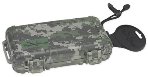 Cigar Caddy 3400 Forest Camo Travel Humidor - 5 Cigars