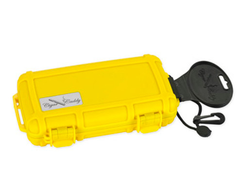 Cigar Caddy 3400 Safety Yellow Travel Humidor - 5 Cigars