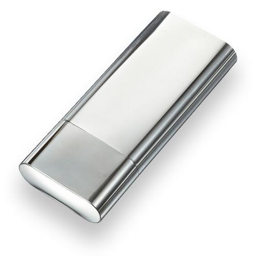 Visol Livorno Metal 3-Finger Cigar Case  - Exterior Front Closed