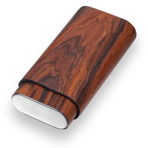 Visol Bruce Wood 3-Finger Cigar Case  - Exterior Front