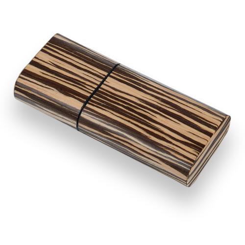 Visol Sawyer Wood 3-Finger Cigar Case  - Exterior Front