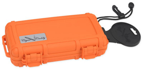 Cigar Caddy 3400 Blaze Orange Travel Humidor - 5 Cigars