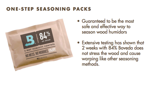 Boveda 84% RH Pack for Humidor Seasoning, Large 60 gram