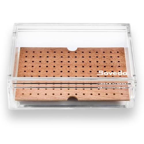 Boveda Small 20 Cigar Acrylic Humidor - Exterior Front
