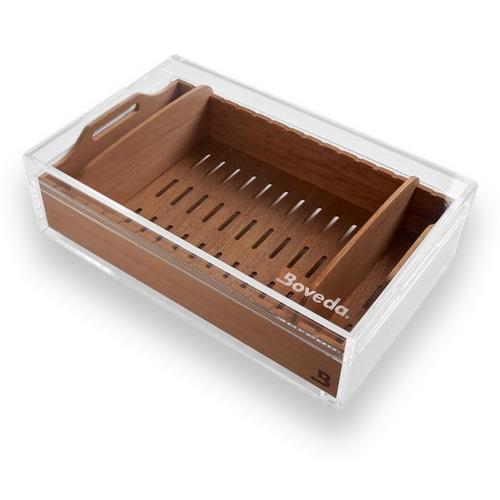 Boveda Large 75 Cigar Acrylic Humidor - Exterior Front