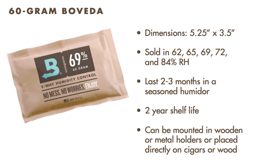 Boveda 72% relative Luftfeuchtigkeit 12er-Pack, groß 60 Gramm