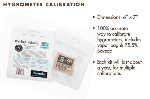 Boveda One-Step Hygrometer Calibration Kit - 75% RH