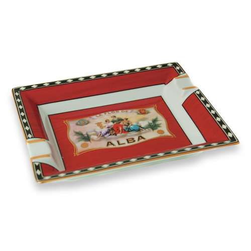 Elie - Bleu - Red - Cigar - Ashtray - Flor - de - Alba - Collection - Exterior - Side