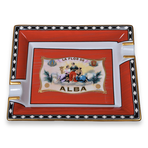 Elie - Bleu - Red - Cigar - Ashtray - Flor - de - Alba - Collection - Exterior