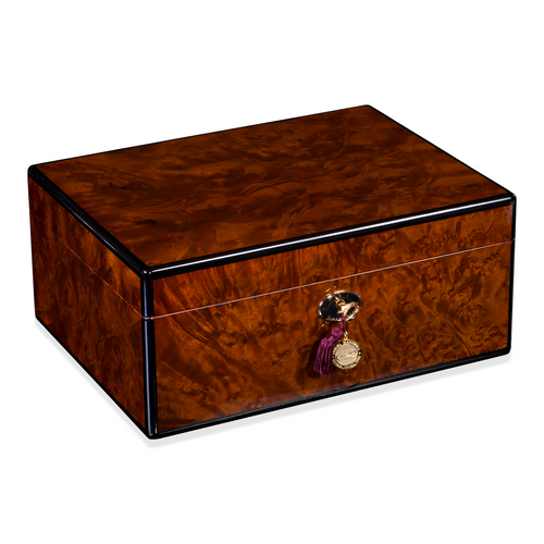 Daniel Marshall 30100 Signature Series 100-Cigar Humidor - Precious Burl Wood (30100.3)