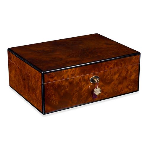 Daniel Marshall 30125 Signature Series 125-Cigar Humidor - Precious Burl Wood (30125.3)