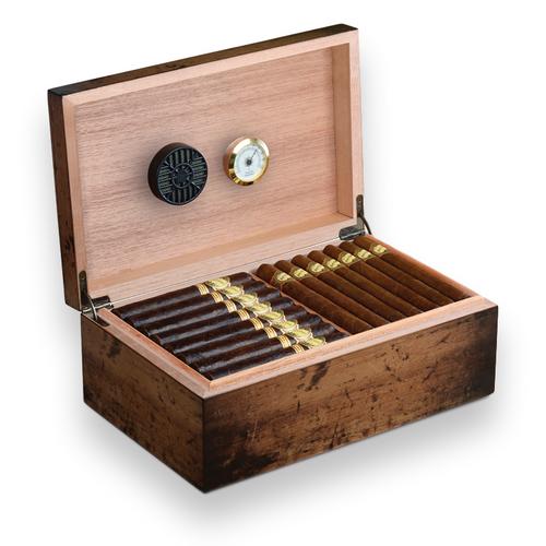 Craftsman's Bench Rustic 90-Cigar Humidor - Classic Series (CB5050)