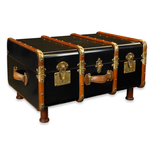Stateroom Trunk Coffee Table - Black (MF040B)