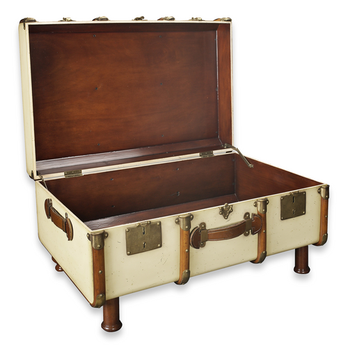 Stateroom Trunk Coffee Table - Ivory (MF040)