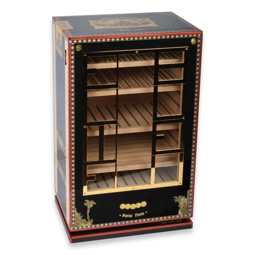 Elie - Bleu - Black - Flor - de - Alba - 150 - Cigar - Cabinet - Humidor - Alba Collection - Exterior