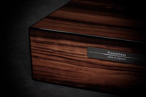Prometheus Macassar Ebony 50 Cigar Humidor - Milano Series