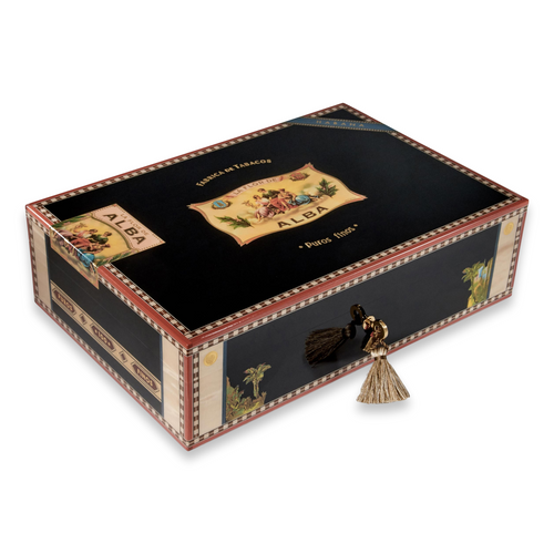 Elie - Bleu - Black - Sycamore - 110 - Cigar - Desktop - Humidor - Flor - de - Alba - Collection - Exterior