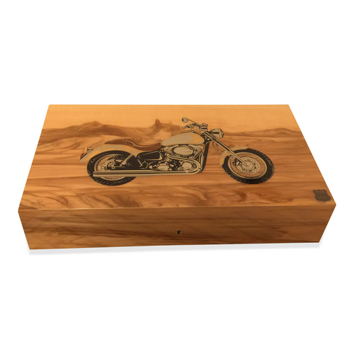 Elie Bleu Route 66 Motorcycle 110 Cigar Humidor - Limited Edition Series (MB15RG110S)