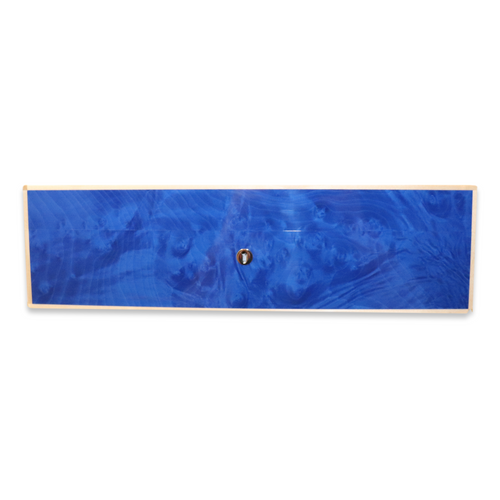 Elie Bleu Blue Madrona Burl 75-110 Cigar Humidor - Classic Collection - Front Side