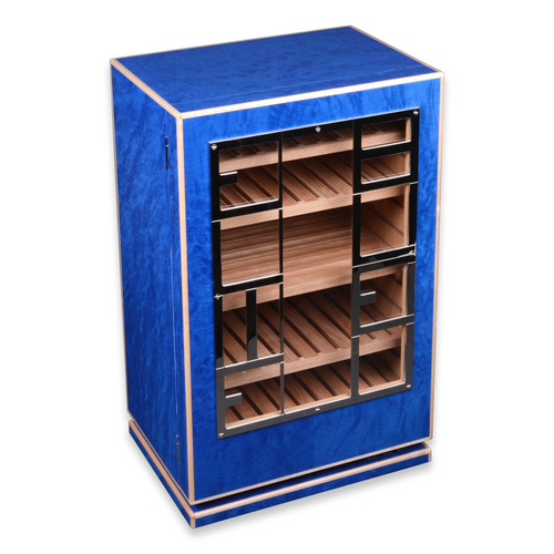 Elie Bleu Blue Madrona 150 Cigar Cabinet Humidor - Classic Collection