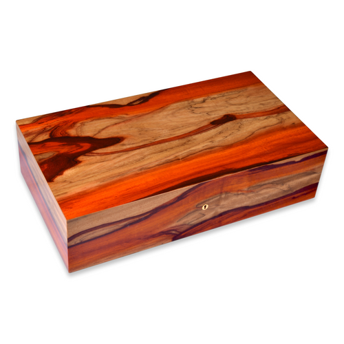 Elie Bleu Padouk 110-250 Cigar Humidor - Classic Collection - Top Exterior of Padouk