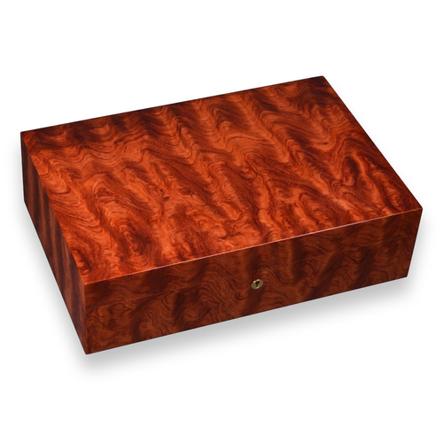 Elie Bleu Figured Bubinga 110 Cigar Humidor - Classic Collection