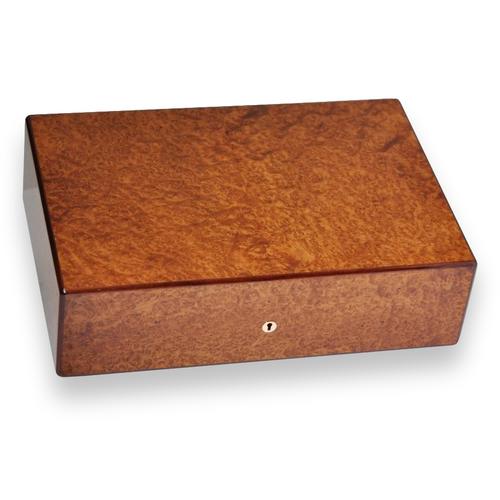 Elie Bleu Amboyna Burl 50-110 Cigar Humidor - Classic Collection