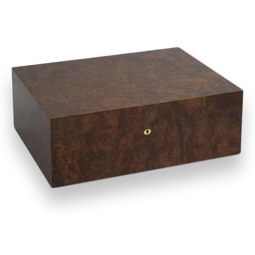 Elie Bleu Walnut Burl 50-300 Cigar Humidor - Classic Collection