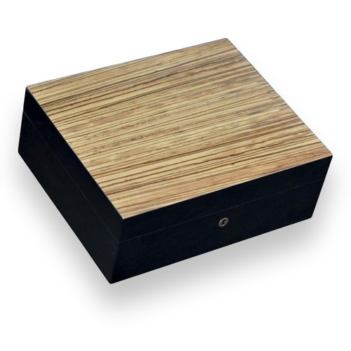 Elie Bleu Zebrawood Black Sycamore 110 Cigar Humidor - Classic Collection