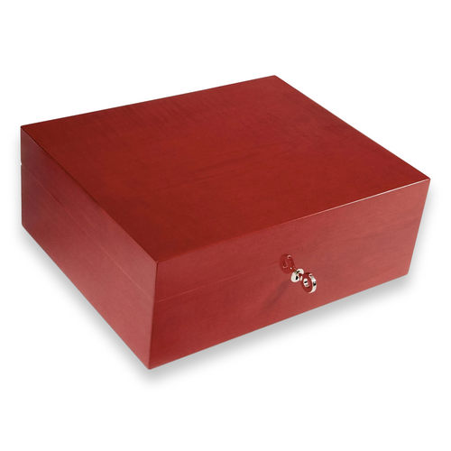 Elie - Bleu - Red - Sycamore - 50 - Cigar - Desktop - Humidor - Fruit - Collection - Exterior