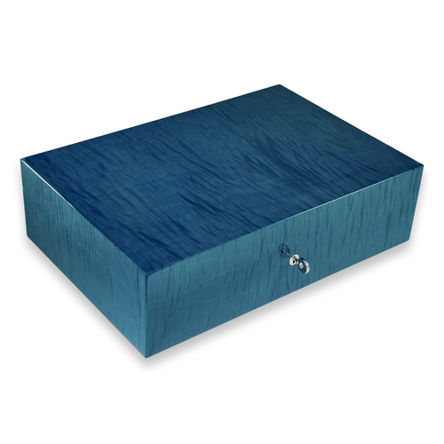 Elie - Bleu - Blue - Sycamore - 110 - Cigar - Desktop - Humidor - Fruit - Collection - Exterior