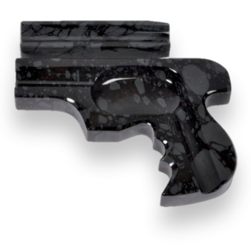 Elie Bleu Obsidian Stone Cigar Ashtray - Gun Collection