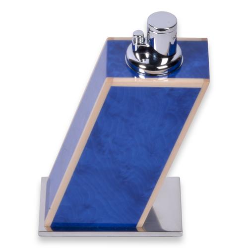 Elie Bleu Blue Madrona Burl Table Lighter - Classic Collection
