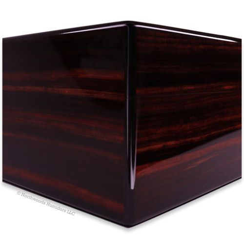Elie Bleu Macassar Ebony 50-300 Cigar Humidor - Classic Collection - Side - Exterior