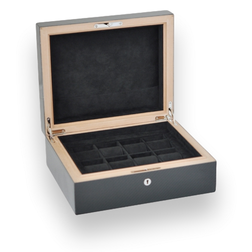 Elie Bleu Carbon Fiber 8 Watch Box - Classic Collection