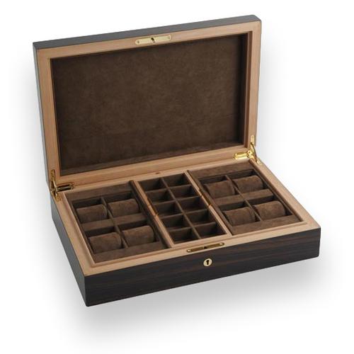 Elie Bleu Macassar Ebony 8 Watch Box - Classic Collection