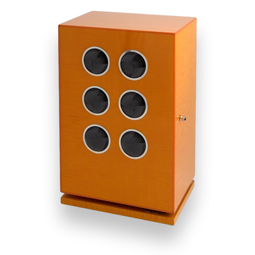 Elie Bleu Orange Sycamore 6 Watchwinder