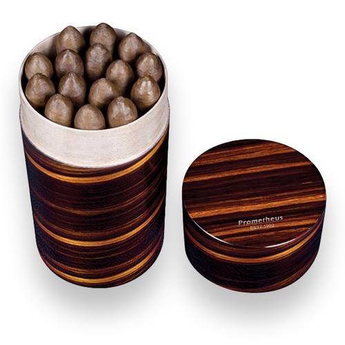 Prometheus Macassar Ebony 15 Cigar Portable Humidor