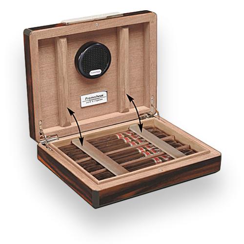 Prometheus Macassar Ebony 7-10 Cigar Travel Humidor