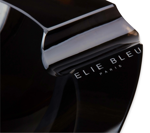 Elie - Bleu - Black - Obsidian - Stone - 3 - Cigar - Ashtray - Obsidian - Collection - Exterior - Closeup - Logo