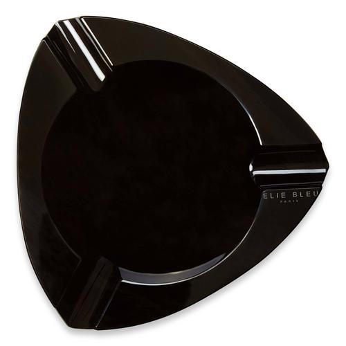 Elie - Bleu - Black - Obsidian - Stone - 3 - Cigar - Ashtray - Obsidian - Collection - Exterior - Top