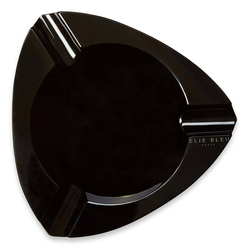 Elie - Bleu - Black - Obsidian - Stone - 3 - Cigar - Ashtray - Obsidian - Collection - Exterior - Top