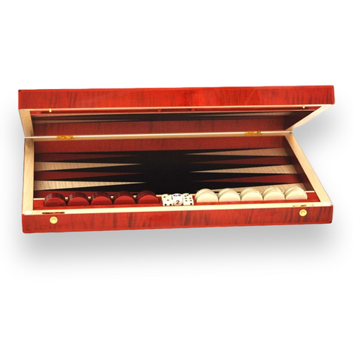 Elie Bleu Red Sycamore Backgammon