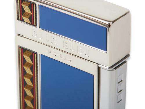 Elie - Bleu - Blue - J - 14 - Diamond - Jet - Flame - Cigar - Lighter - Flor - de - Alba - Collection - Exterior - Side - Close
