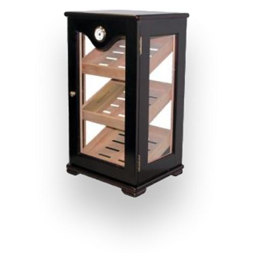 Quality Importers Mahogany 75 Cigar Humidor Cabinet Display