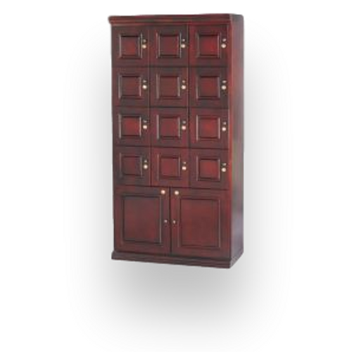Quality Importers Mahogany Cigar Locker Wall Cabinet