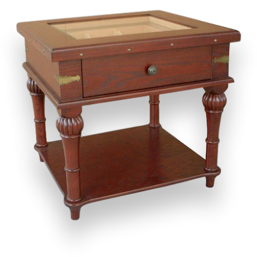 Quality Importers Scottsdale - 300 Cigar Solid Wood End Table Humidor