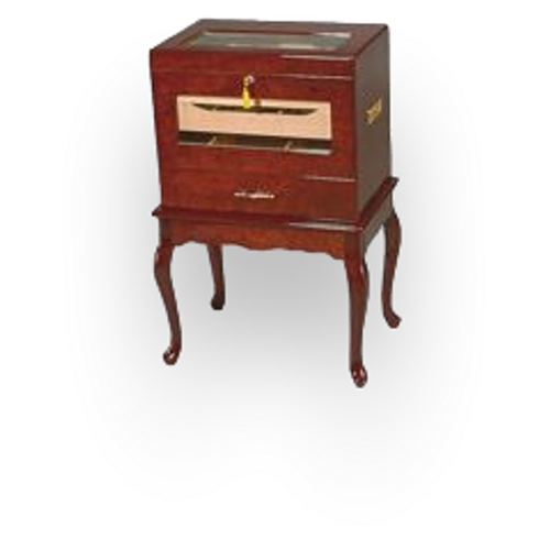 Quality Importers Geneve - 500 Cigar Glasstop Table Humidor
