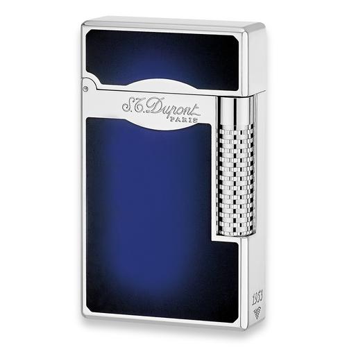 S.T. Dupont Cigar Lighter - Le Grand Collection - Exterior Front - Sunburst Natural Blue Lacquer