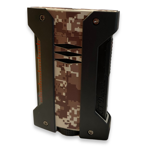S.T. Dupont Wind Resistant Cigar Lighter - Defi Extreme - Military Camo - Exterior Front